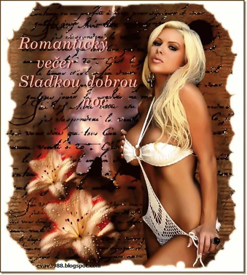 ROMANTICKÝ VEČER,SLADKOU DOBROU NOC