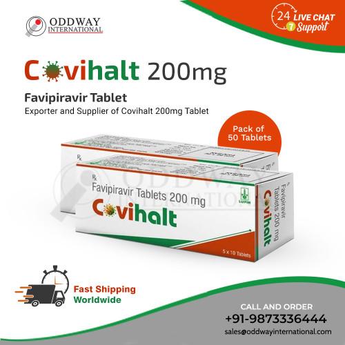 Covihalt 200mg tableta je antivirový lék. Covihalt Favipiravir 200 mg se používá k léčbě mírné až středně závažné koronavirové choroby (COVID-19) u dospělých.  Chcete-li koupit Covihalt 200 mg vyráběný společností Lupin Ltd online bezproblémovým a nákladově efektivním způsobem, navštivte Oddway International (nákup velkoobchodního dodavatele antivirové medicíny). https://www.oddwayinternational.com/covihalt-200mg-favipiravir-tablet